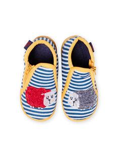 Patucos de color gris jaspeado de rayas con estampado de ovejas para bebé niño MUPANTSHEEP / 21XK3832D0A943