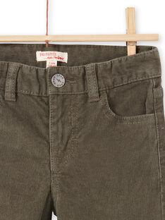 Pantalón liso de color caqui para niño MOJOPAVEL2 / 21W90214PANG631