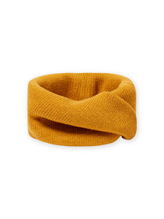 Cuello de punto liso de color amarillo azafrán para niño MYOGROSNO1 / 21WI0252SNO113