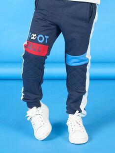 Pantalón de chándal de color azul noche para niño LOHAJOG / 21S902X1JGB705