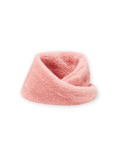 Cuello rosa de pelo artificial para niña MYASAUSNOO2 / 21WI0163SNO303