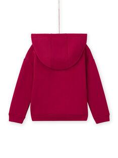 Sudadera rosa con capucha y estampado de unicornio para niña MATUSWEA / 21W901K1SWED312