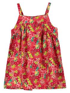 Vestido ligero de tirantes para bebé niña FIYEROB1 / 19SG09M1ROB000