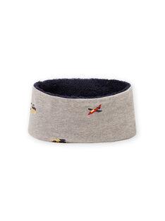 Cuello de color gris jaspeado con estampado de vehículo para niño MYOGROSNO3 / 21WI0253SNOJ922