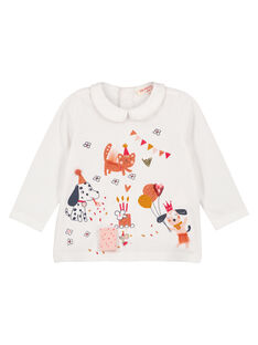 Camisita con dibujo para niña recién nacida GISANBRA / 19WG09C1BRA001