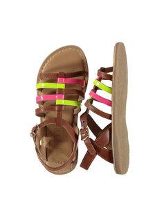 Sandalias de piel fluorescente para niña FFSANDVIA / 19SK35C7D0E030