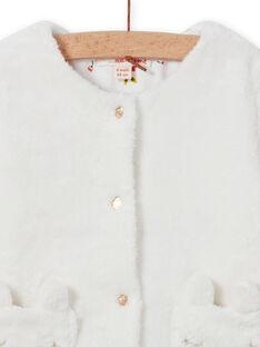 Cárdigan reversible de color crudo para bebé niña MIJOCAR1 / 21WG0911CAR001