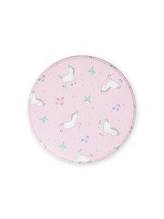 Fiambrera rosa de metal con estampado de unicornio para niña MYACLABOI / 21WI01G1D5OC205