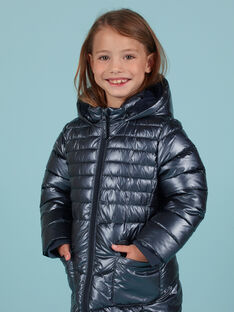Anorak azul metalizado para niña MALONDOUN2 / 21W90162D3E070