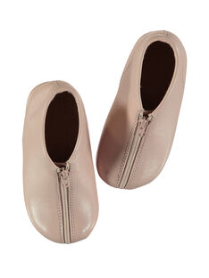 Botines de piel de color rosa para bebé niña GBFBOBEBE / 19WK37B1D0A030