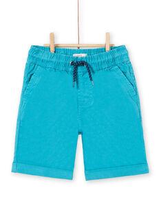 Bermudas de color turquesa para niño LOJOBERMU4 / 21S902F5BERC242