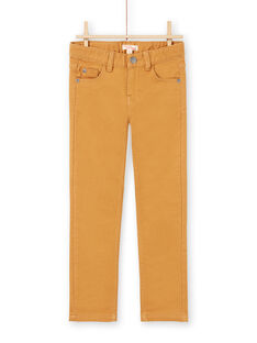 Vaquero liso amarillo para niño MOJOPAKNI4 / 21W90222PANI814