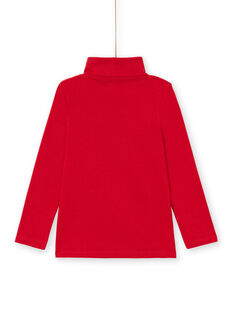 Jersey fino liso rojo para niño MOJOSOUP2 / 21W902N2SPL505