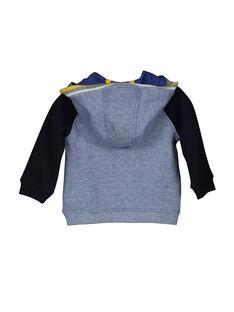 Cárdigan con cremallera y capucha para bebé niño FUCOHOJOG / 19SG1082GIL099