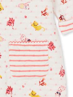 Pelele beige de quilt con estampado de gato para bebé niña LEFIGRENAU / 21SH1313GRE001