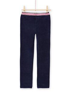 Pantalón milano de color azul noche para niña MAJOMIL2 / 21W90118PANC205