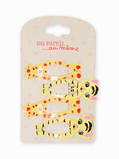 Pack de 4 horquillas a juego con animales para niña MYAJOCLIC5 / 21WI01S5BRT957