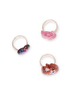 Pack de 3 anillos a juego con brillo para niña MYAJORING1 / 21WI01S2BAG953