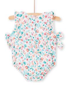 Pelele corto de color blanco para bebé niña LIBONBAR / 21SG09W1BAR000