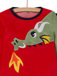 Pijama de camiseta y pantalón con estampado de dragón para niño MEGOPYJDRA / 21WH1287PYJF504