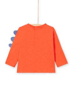 Camiseta roja de manga larga con estampado de dinosaurio para bebé niño MUPATEE2 / 21WG10H3TMLF524
