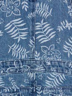Peto vaquero de color azul y blanco, con estampado floral LANAUSAC / 21S901P1SACP274